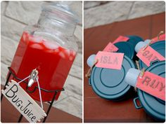 Campfire BirthdayParty: Bug Juice with mini canteens