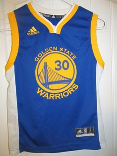 Details about Golden State Warriors adidas Stephen Curry sewn NBA jersey  youth small a35763f98