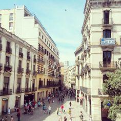Portal de l'Àngel in Barcelona,Catalunya