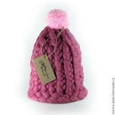 Купить Шапка из толстой пряжи - толстая пряжа, шапка вязаная, merino wool, мериносовая пряжа