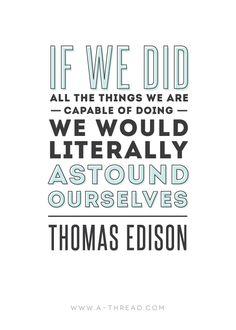 Motivation Mondays - Thomas Edison