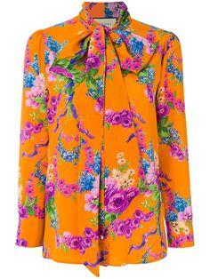bd04ca094 Shop Gucci floral printed blouse Gucci Floral, Floral Tops, Floral Style,  Floral Prints