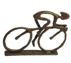 """Danya B Inch Tall """"Cyclist Figurine"""" Hand Crafted Metal Sculpture Bronze Home Decor Accents Statues & Figurines Decorative Objects, Decorative Accessories, Desktop Accessories, Statues, Paperclay, Bike Art, Metal Casting, Sand Casting, Bronze Sculpture"""