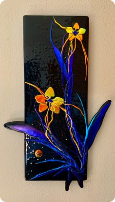 Dichroic Glass, Fused Glass, Mosaic Art, Mosaic Glass, Marie Madeleine, Glass Fusing Projects, Diy Wood Signs, Creative Things, Wall Sculptures