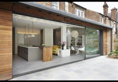Wellfield Avenue - Projects - Edward Williams Architects Ltd House Design, Flat Roof Extension, House Extensions, House, Orangery Extension Kitchen, Orangery Extension, Bungalow Renovation, Sliding Doors Exterior, House On A Hill
