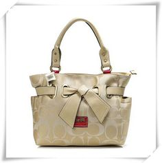 Coach Poppy Bowknot Signature Medium Coffee Totes ANA With High Quality And Newest Style Is Waiting You Here! #BestSeller #ValueSpree