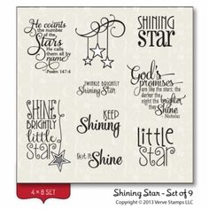 Shining Star stamp set from Verve