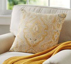 Viola Print Cushion Cover | Pottery Barn AU