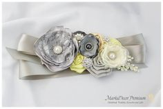 Bridal Custom Sash / Wedding Bridesmaids Belt by MarkadecorPremium, $135.00