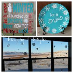 Keeping it Simple: Easy winter vinyl decor. #cricut