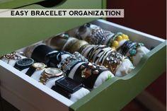 Easy DIY bracelet organization