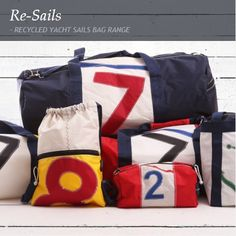 RECYCLED YACHT SAILS BAG RANGE. The fashion industry's elite are hanging up their Louis Vuitton luggage in favour of the original recycled sail brand – Re-Sails. Initiated by South African Christian Schlebach, the brand manufactures a naturally nautical product range all manufactured from discarded yacht sails, making each bag you find in this feature, completely unique. www.citymob.co.za