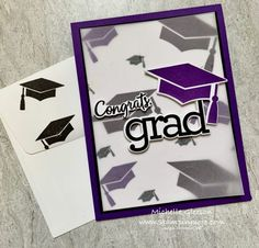 Graduation Cards Handmade, My Heart Hurts, Class Of 2020, Daughter Of God, School Colors, Simon Says Stamp, Grad Parties, Overlays, Congratulations