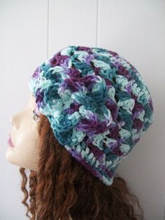f968aaa9579 WOMENS HANDMADE CROCHET SUMMER BEANIE SKULL HAT CROWN JEWELS W  FLOWER