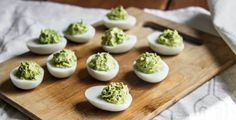 Avocado Superfood Deviled Eggs Recipe @ Aloha.com l #appetizers