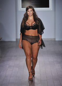 70671ff82d Ashley Graham walks the runway for her Addition Elle lingerie line - click  ahead for more NYFW photos!