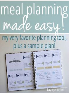 My Favorite Meal Planning Tool (& a Sample Plan!) - Kayse Pratt