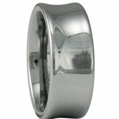 8MM 'Scoop' Style Men's Tungsten Wedding Ring. Engraving for this ring is available at #ringninja. $59.99.