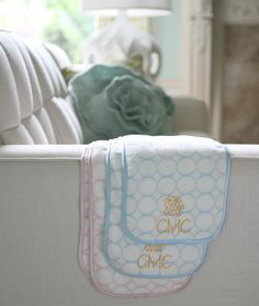 Personalized SwaddleDesigns Organic Baby Burpies