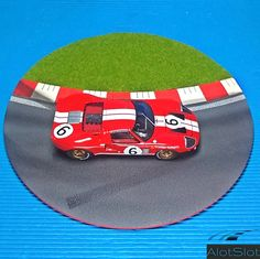 """Ford in Diorama """"Track Curve"""". Diorama Ideas, Ford Gt40, Slot, Scale, Track, Tips, Circuit, Dioramas, Curves"""