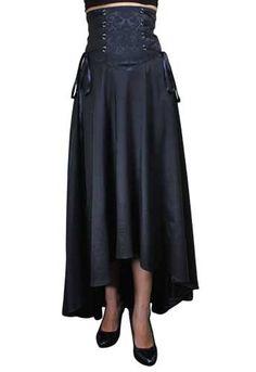 Plus Size Black Gothic Corset Ribbon Asymmetry Skirt Style Steampunk, Steampunk Clothing, Steampunk Fashion, Gothic Fashion, Steampunk Dress, Gothic Clothing, Unique Fashion, Size Clothing, Punk Outfits