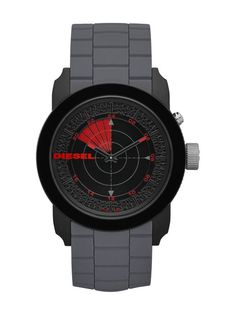 ad79de9d3331 Diesel DZ1610 Double Down 44 RDR men s watch features a 44mm wide and 14mm  thick black