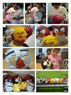 making angry bird pinatas