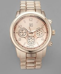 american exchange women rose gold and transparent watch rose new ny co watch large metal face link watch rose gold color non sized