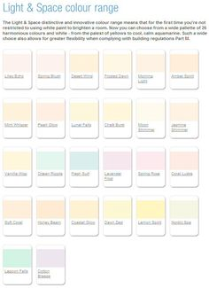 So many Pritty colours!!! - Dulux Light and Space colour range