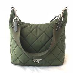 PRADA Quilted Nylon Hobo Bag