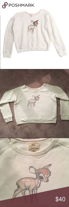 19d6bfaee861 White Bambi Sweatshirt Adorable Bambi sweatshirt from the Disney by  Patterson Kincaid collection. Graphic is