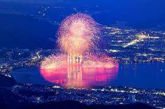 Lake Suwa fireworks festival 諏訪湖の花火大会