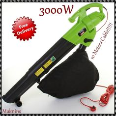 Garden Electric Leaf Blower Vacuum Mulcher Shredder 3 in 1 3000w Patio Yard New…