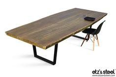 Etz & Steel Walden Live Edge Table Black Base #liveedge #dinningtable #woodslab #interior #wood Visit us: http://www.etzandsteel.com