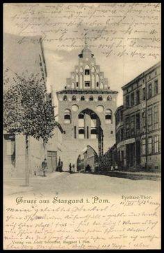 Stargard Pommern, Blick auf das Pyritzer Tor im 1900