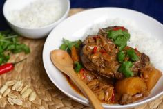 Flavour-filled and deeply warming, nothing beats a mild massaman curry on a cold night. This slow-cooker version uses osso bucco, or beef shin, and will set mouths watering as it simmers away.