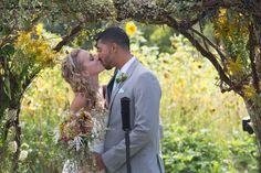 Kiss the bride. Mint farm wedding