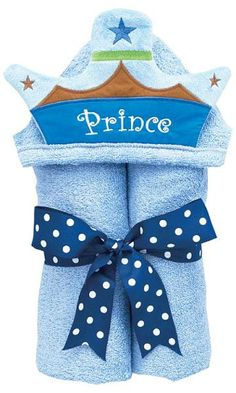 """Prince"" personalized tubbie towel"