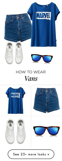 """Untitled #2615"" by samanthay7 on Polyvore featuring Le Specs, Pull&Bear, Uniqlo and Vans"
