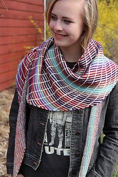 Crossfire pattern by Jennifer Dassau with Mini Mochi by Crystal Palace Yarns Knit Cowl, Knitted Shawls, Crochet Shawl, Knit Crochet, Shawl Patterns, Weaving Patterns, Knitting Patterns, Knitting Ideas, Crochet Patterns