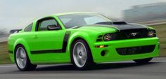 now this is a green car! 2012 Boss 302. I love this color on cars hope I can paint my car like this