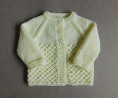 Danika means Morning Star (this design uses a version of star stitch) Danika Bab. : Danika means Morning Star (this design uses a version of star stitch) Danika Baby Jacket ~ with a Collar Danika Baby … Baby Cardigan Knitting Pattern Free, Baby Boy Knitting Patterns, Baby Sweater Patterns, Knitted Baby Cardigan, Knit Baby Sweaters, Knitted Baby Clothes, Baby Hats Knitting, Knitting Designs, Free Knitting