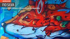 Arte urbano, pintura e ilustración de FIO SILVA http://www.colectivobicicleta.com/2015/02/Street-art-de-fio-silva.html