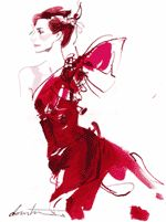 David Downtons work conveys clear structure, shape and form within the illustration, portraying exactly how the garment should fit through the use of a simple line drawing technique. The shades and...