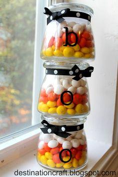 Destination: Craft: Candy Corn Candy Jars