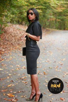 Neoprene crop top and pencil skirt « Mood Designer Fabrics Sewciety Blog