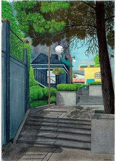 Kirkland Stairs, watercolor