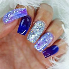 50 Stunning Blue Nail Designs for a Bold and Beautiful Look  - FASHION - Beauty - #beautiful #Beauty #blue #bold #designs #FASHION #Nail #Stunning