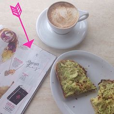 #butfirstcoffee & #avocadotoast. Morning meeting at #SweetButterKitchen. PS how cute is this #luciana #heart this tee in the #OKmagazine #valentinesday gift guide? #TGIF