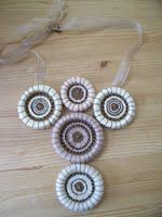 Crosswheel Dorset Button neckpiece by Rosalind Atkins